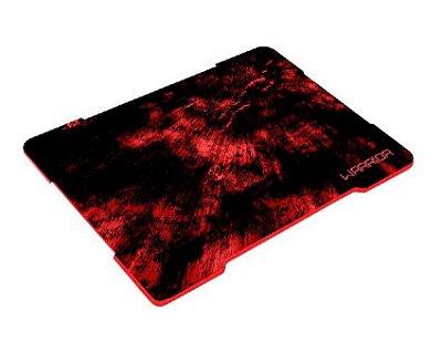 Mouse Pad Multilaser Gamer Warrior Vermelho Fibras Entrelaçadas AC286