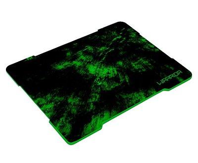 Mouse Pad Multilaser Gamer - Warrior Verde Fibras Entrelaçadas AC287