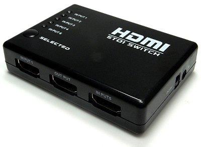 Switch HDMI 3 entradas e 1 Saída + Controle