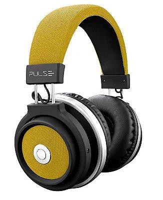 Fone de Ouvido Bluetooth Large Amarelo Pulse - PH233