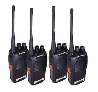Kit 4 Rádios Comunicador Baofeng Uhf Bf-777s Walk Talk 16ch + fone