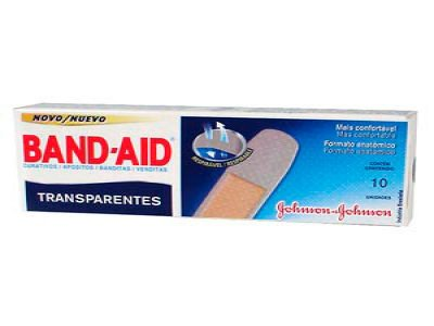 CURATIVO BAND-AID TRANSPARENTE [10UN]