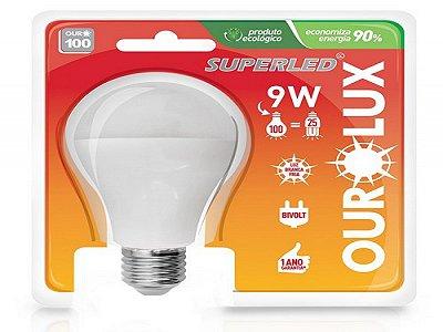 LAMPADA OUROLUX SUPERLED 9W BIVOLT