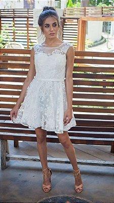 Vestido Branco Bordado Suzi