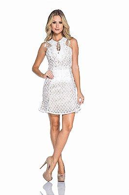 Vestido Branco em Renda Luana