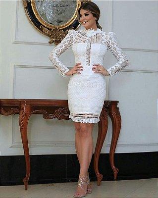 Vestido Branco Vanessa em Guipir