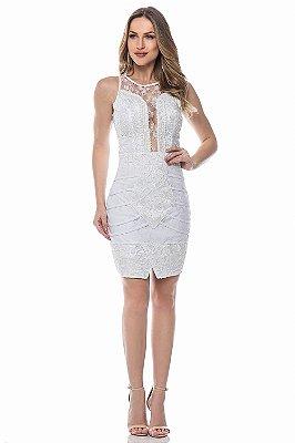 Vestido Branco Júlia Bordado