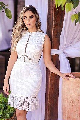 Vestido Lis Branco em Renda