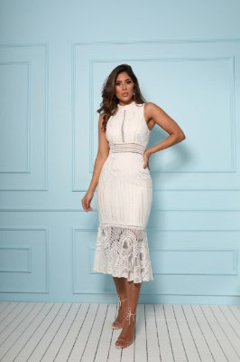 Vestido Branco Midi Ana Clara