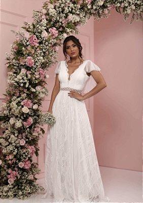 Vestido Longo Laísa Branco
