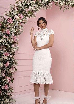 Vestido Agnes Branco em Renda