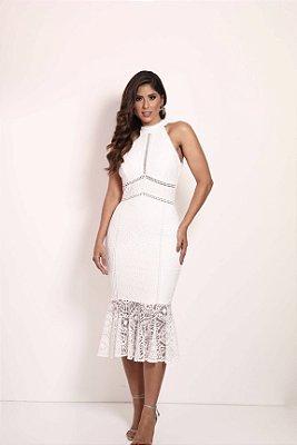 Vestido Azaleia Branco em Renda
