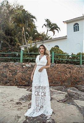 Vestido Joice Longo em Renda com Short