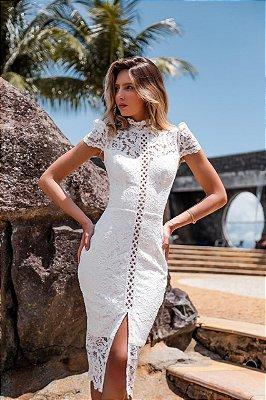 Vestido Diana Branco em Renda