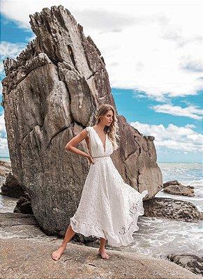 Vestido Fernanda Midi em Renda