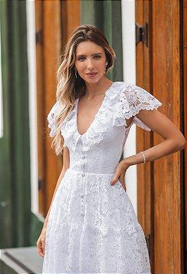 Vestido Maitê Midi em Renda