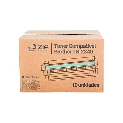 Kit de Toner Brother DCP-L2540DW | TN-2340 Preto Compatível 10un