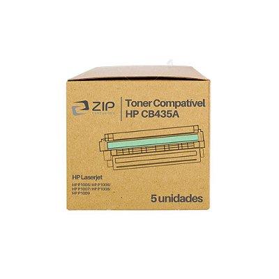 Kit 5 Toners HP P1005 | 1005 | CB435A Laser Preto Compatíveis para 2.000 páginas