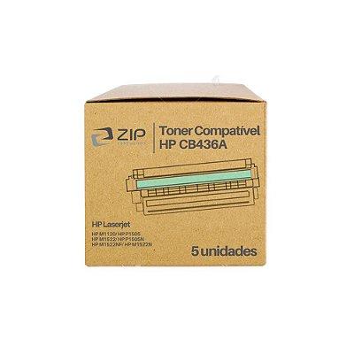 Kit 5 Toners HP M1120 | 1120 | CB436A Laser Preto Compatíveis para 2.000 páginas