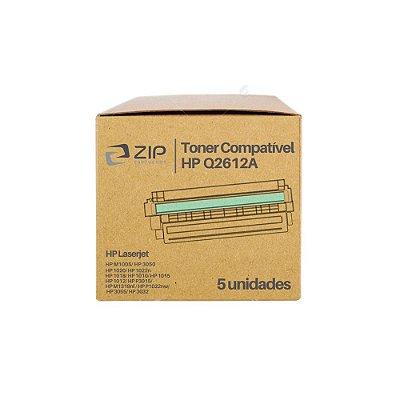 Kit 5 Toners HP 3052   Q2612A   12A Laserjet Preto Compatíveis para 2.000 páginas