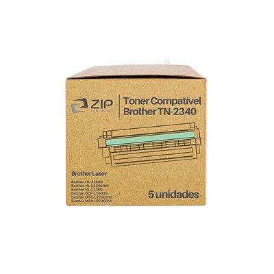 Kit de Toner Brother DCP-L2540DW | TN-2340 Preto Compatível 5un