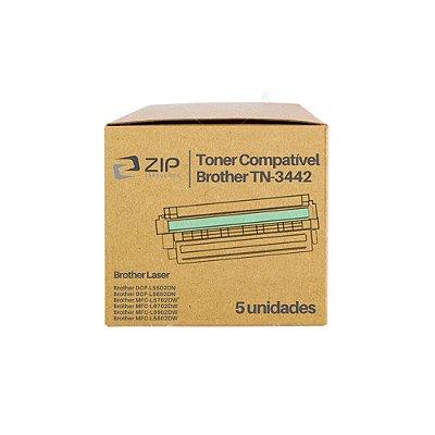 Kit de Toner Brother DCP-L5652dn | TN-3442 Preto Compatível 5un