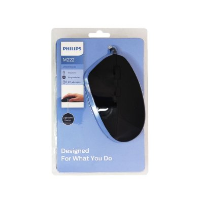 Mouse USB 2400dpi M222 Preto Philips