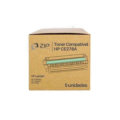 Kit 5 Toners HP CE278A | 78A Laser Preto Compatíveis para 2.100 páginas