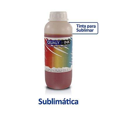 Tinta Epson T664420 EcoTank Sublimática Qualy Ink Amarela 1 litro