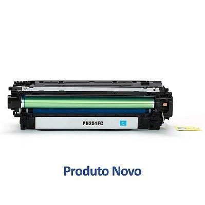 Toner HP CP3525dn | CM3530 | CE251A LaserJet Ciano Compatível