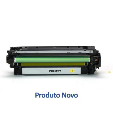 Toner HP CP3525 | 504A | CM3530 | CE252A LaserJet Amarelo Compatível