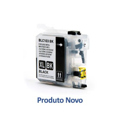 Cartucho Brother LC103BK Preto Compatível 19ml