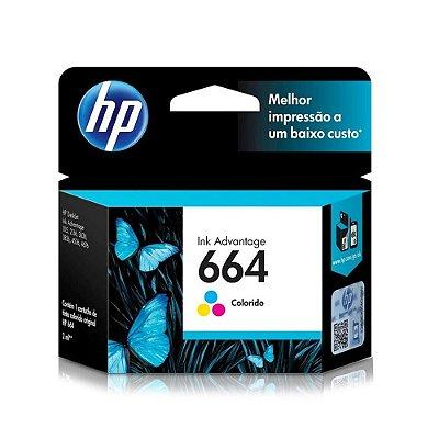 Cartucho HP 2136 | 1115 | 4676 | HP 664 Colorido Original 2ml