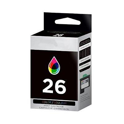 Cartucho Lexmark X1185 | X1250 | Lex 26 Color Compatível