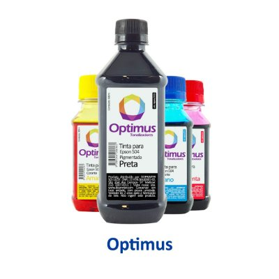 Kit de Tinta Epson L4150 EcoTank Optimus Preta 500ml + Coloridas 100ml