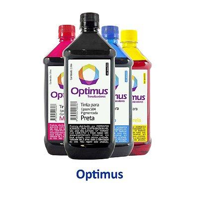 Kit de Tinta Epson L4150 EcoTank | T504120 | 504 Optimus Preta + Coloridas 1 litro