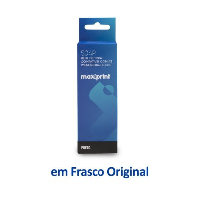 Garrafa de Tinta Epson L6171 | T504120 Maxprint Preta 100ml