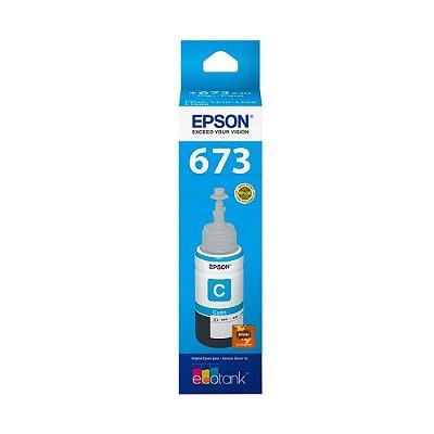 Tinta Epson 673 | L1800 | T673220 EcoTank Ciano Original 70ml