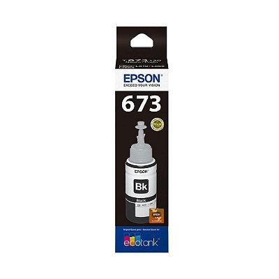 Tinta Epson T673120 | L850 | 673 EcoTank Preta Original 70ml