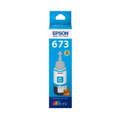 Tinta Epson 673 | L850 | T673220 EcoTank Ciano Original 70ml