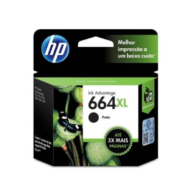 Cartucho HP 2676 | HP 664XL | F6V31AB Deskjet Ink Advantage Preto Original 4,5ml