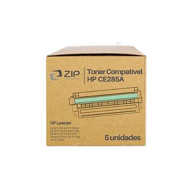 Kit 5 Toners HP P1102w | P1102 | CE285A Laserjet Pro Preto Compatíveis para 2.000 páginas