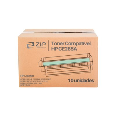 Kit 10 Toners HP P1102w | P1102 | CE285A Laserjet Pro Preto Compatíveis para 2.000 páginas