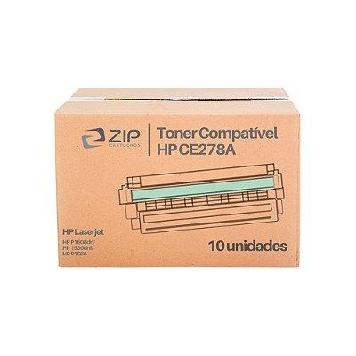 Kit 10 Toners HP P1606dn | 1606 | CE278A Laser Preto Compatíveis para 2.100 páginas