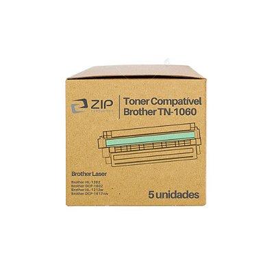 Kit 5 Toners Brother HL-1212W | 1212 | TN-1060 Laser Preto Compatíveis para 1.000 páginas