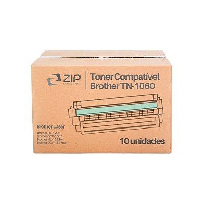 Kit de Toner Brother HL-1212W | TN-1060 Preto Compatível 10un