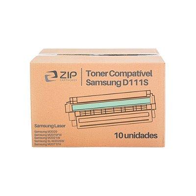 Kit 10 Toners Samsung SL-M2020W | M2020 | MLT-D111S Xpress Preto Compatíveis para 1.000 páginas
