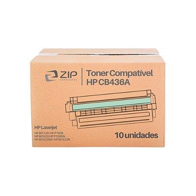 Kit 10 Toners HP M1522NF   1522   CB436A Laser Preto Compatíveis para 2.000 páginas