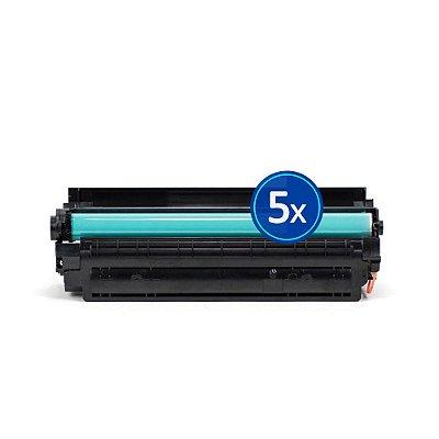 Kit 5 Toners HP P1505N   1505   CB436A Laser Preto Compatíveis para 2.000 páginas