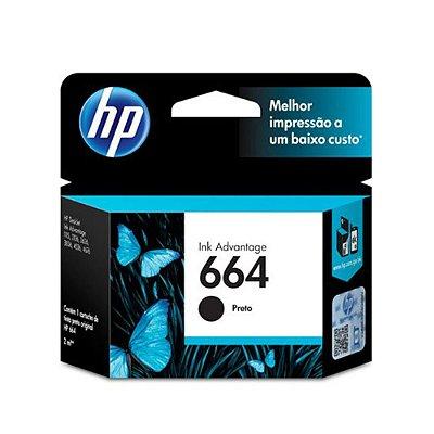 Cartucho HP 3836 | HP 664 | F6V29AB Deskjet Ink Advantage Preto Original 2ml